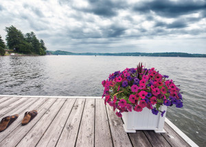 A Dock on the Lake with Sandals
